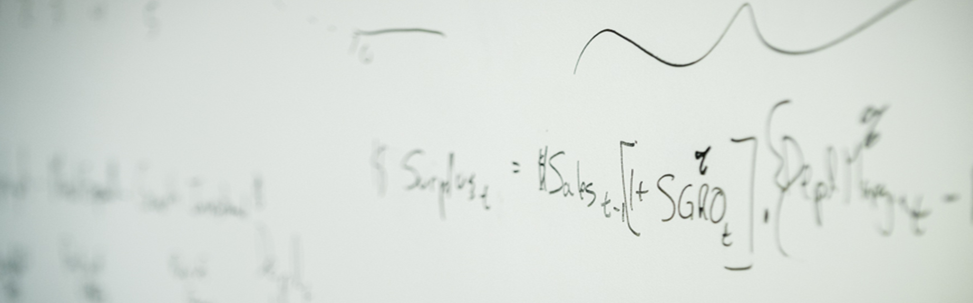 Formula on white board